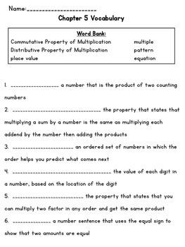 3rd Grade Go Math Chapter 5 Supplemental Materials