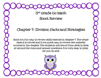 3rd Grade Go Math Chapter 7 Scoot Review