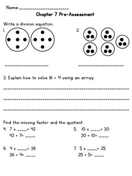 3rd Grade Go Math Chapter 7 Supplemental Materials
