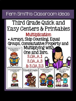 3rd Grade Go Math Chapter Four Multiplication Facts and Strategies Center Games