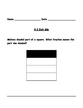 3rd Grade Go Math Chapters 8-12 Exit Slips