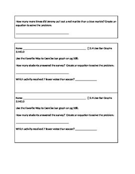 3rd Grade Go Math Exit Slips Unit 2