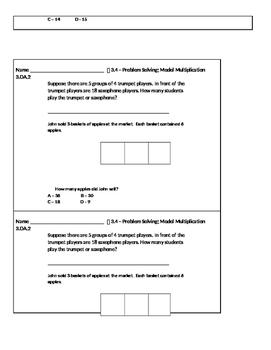 3rd Grade Go Math Exit Slips Unit 3