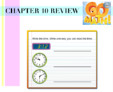 3rd Grade GoMath Chapter 10 (Time)  review