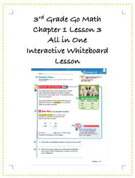 3rd Grade GoMath Interactive Flip Chart Ch. 1 Lesson 3
