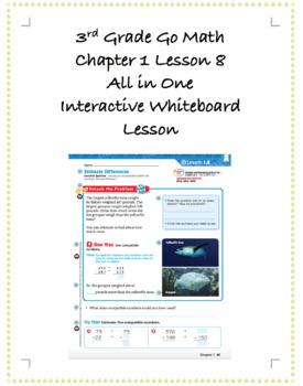 3rd Grade GoMath Interactive Flip Chart Ch. 1 Lesson 8
