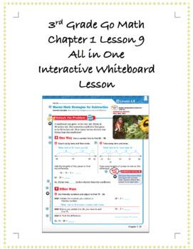 3rd Grade GoMath Interactive Flip Chart Ch. 1 Lesson 9