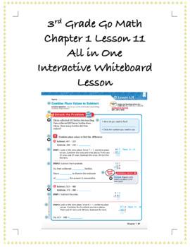 3rd Grade GoMath Interactive Flip Chart Ch. 1 Lesson 11