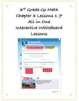 3rd Grade GoMath Interactive Flip Chart Ch. 3 BUNDLE