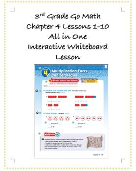 3rd Grade GoMath Interactive Flip Chart Ch 4 BUNDLE