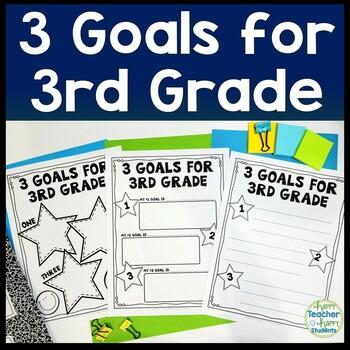 3rd Grade Goals - 3 Goals for Third Grade - Back to School Goal Setting
