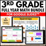 3rd Grade Google Classroom Math Activities Bundle | Distan