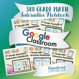 ⭐DIGITAL⭐ 3rd Grade Math Interactive Notebook for Google Classroom™