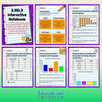 ⭐DIGITAL⭐ 3rd Grade Math Interactive Notebook⭐Google Classroom Distance Learning