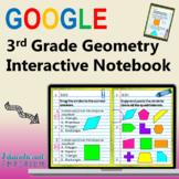 3rd Grade Google Classroom Math Interactive Notebook, Digital: Geometry Domain