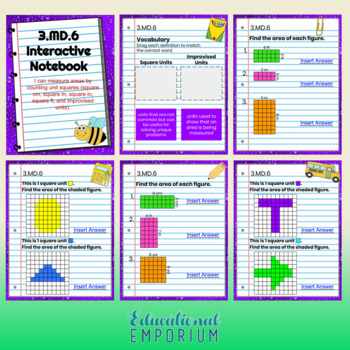 3rd Grade Google Classroom Math Interactive Notebook, Digital: MD Domain