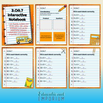 3rd Grade Google Classroom Math Interactive Notebook, Digital: OA Domain