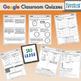 3rd Grade Google Classroom Math Quizzes, Digital Math Quizzes, 3rd Grade
