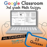 3rd Grade Math Quizzes ⭐ Assessments for Google Classroom™