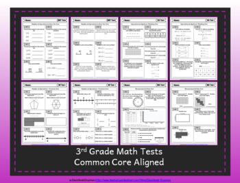 3rd Grade Google Classroom Math Tests, Digital Math Tests, 3rd Grade Math Tests