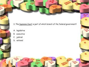 3rd Grade Government Activities, Review, and Assessment