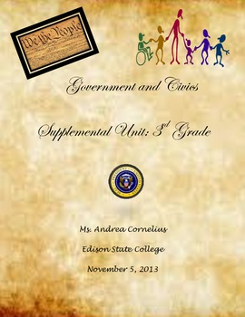 3rd Grade Government Supplemental Unit
