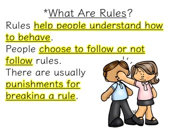 3rd Grade Government Unit Lesson 3 Pack: Rules and Laws