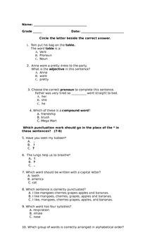3rd Grade Grammar