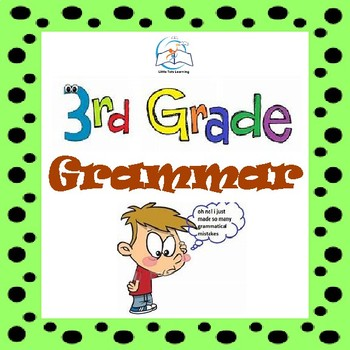 3rd Grade Grammar   3rd Grade Grammar Worksheets   NO PREP BUNDLE