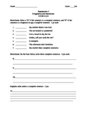 3rd Grade Grammar Assessments