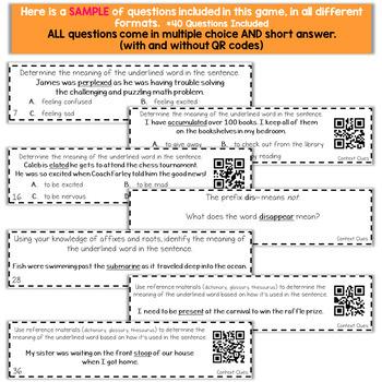 4th Grade Grammar Game | Context Clues, Roots, Affixes
