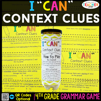 4th Grade Context Clues, Roots, Affixes Game