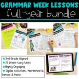 3rd Grade Grammar Lessons | Growing Bundle