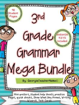3rd Grade Grammar Mega Bundle