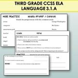 3rd Grade Grammar: Nouns,  Pronouns, Verbs, Adjectives, Adverbs