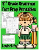 3rd Grade Grammar Packet for Common Core Test Prep Printables- NO PREP