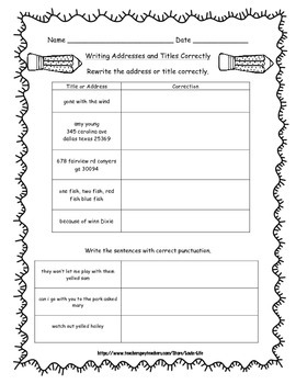 3rd Grade Grammar Packet for Common Core Test Prep ...
