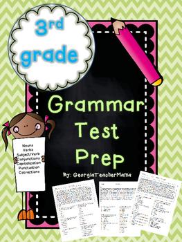 3rd Grade Grammar Test Prep
