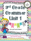 3rd Grade Grammar Unit 1: Review Parts of Speech