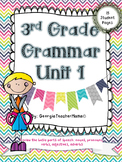 3rd Grade Grammar Unit 1: Review Parts of Speech