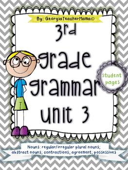 3rd Grade Grammar Unit 3: Nouns and Pronouns