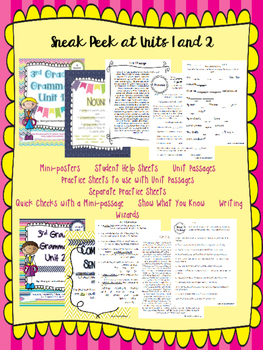 3rd Grade Grammar Units Overview