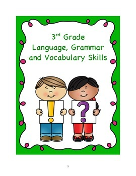 3rd Grade Common Core Language, Grammar, and Vocabulary Skills