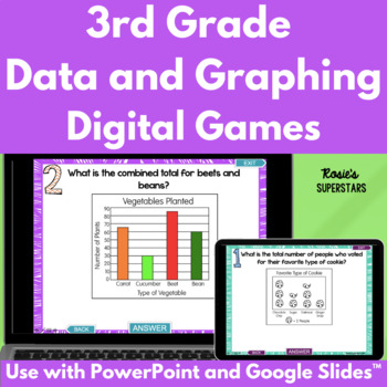 3rd Grade Graphing and Data Test Prep Digital Games: 2 Ready to Play Games