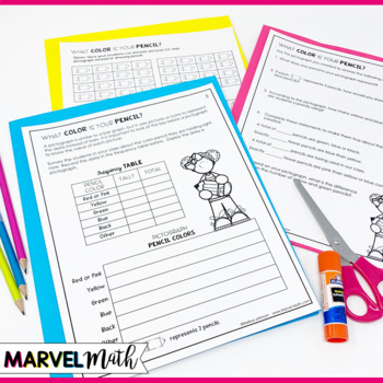 3rd Grade Graphs and Data Book: Pictograph, Bar Graph, Dot Plot by Marvel Math
