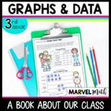 3rd Grade Graphs and Data Book: Pictograph, Bar Graph, Dot