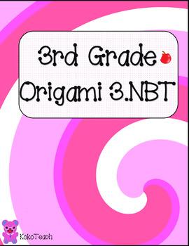 3rd Grade Growing Origami Math Bundle
