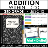 3rd Grade Addition within 1,000 Guided Math Curriculum Min