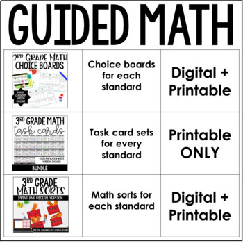 3rd Grade Guided Math Centers (Mega Bundle)