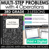 3rd Grade Multi-Step Word Problems with 4 Operations Guide